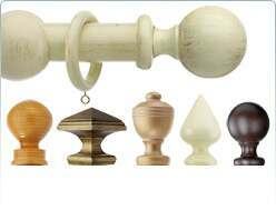 Integra wooden curtain poles