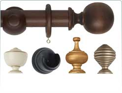 Museum 35mm wooden curtain pole