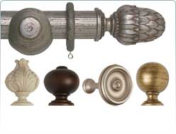 Museum wooden curtain pole 45mm