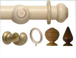 Rolls Modern Country 45mm wooden curtain pole