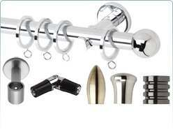 Rolls Neo metal curtain pole and accessories