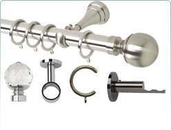 Rolls Neo 28mm metal curtain pole and accessories
