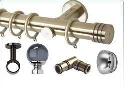 Rolls Neo 35mm metal curtain pole and related items