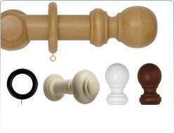 Rolls Neo 35mm wooden curtain pole and fittings