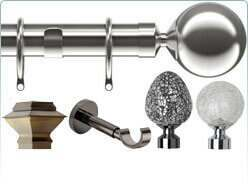 Speedy 28mm metal curtain poles and accessories