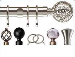 Speedy extendable metal curtain poles