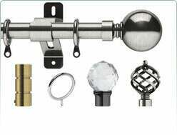 Closeup detail of the Swish 19mm Elements Curtain Pole