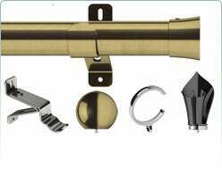 Details of the Swish 35mm Design Studio range of curtain poles
