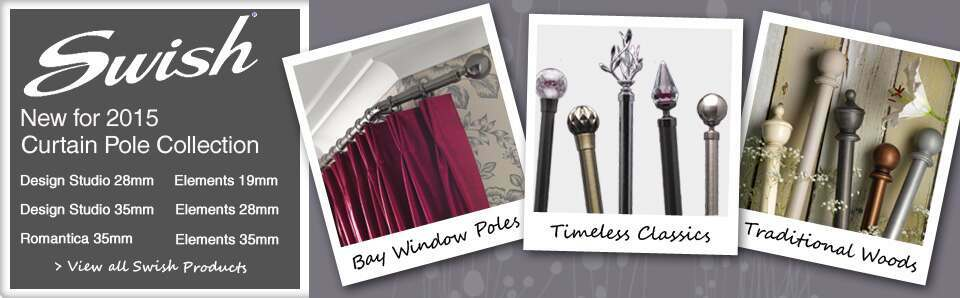 Swish Curtain Poles including the Design Studio, Elements and Romantica Collections
