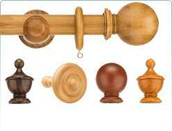 Natural colour woods with this Swish 28mm Naturals Curtain Poles