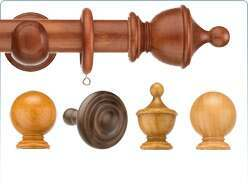 Classic wooden style with this Swish 35mm Naturals Curtain Poles