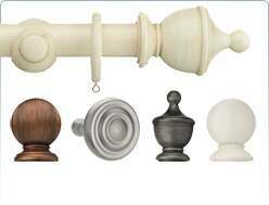 Classic wooden style with this Swish 35mm Romantica Curtain Poles