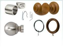 curtain pole brackets and accessories