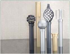 Metal and Wooden Curtain Poles
