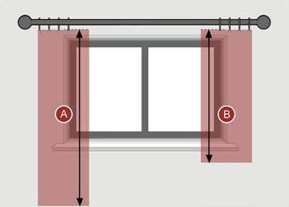 how to measure for pencil pleat curtains for a curtain pole