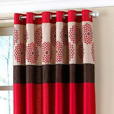 An example of our curtains with an eyelet heading