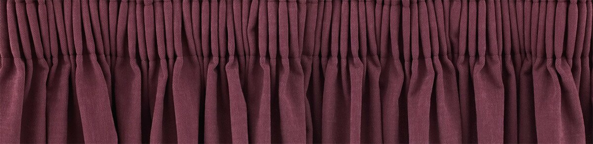 Close up detail of our pencil pleat curtains made to measure - delivered ready made