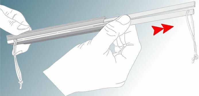 Remove the bending track insert
