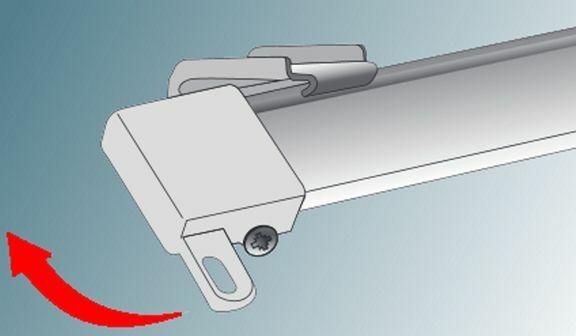 Tighten track end retaining screw