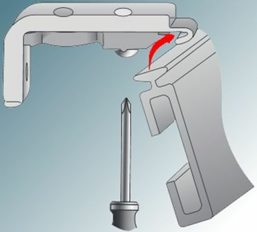 Fit curtain track to the fixing bracket