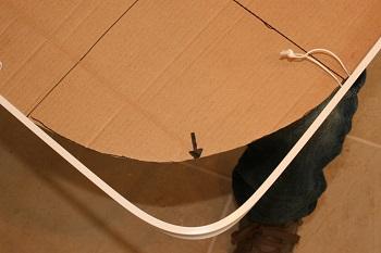 Reverse bend bay window track