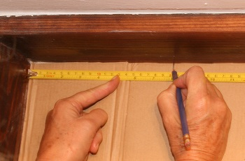 How to measure for a 90 degree bend in a bay window