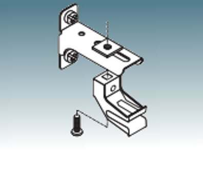 Curtain track mounting bracket