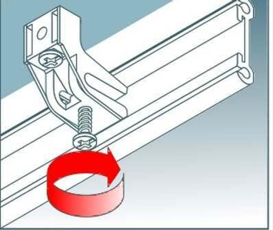 Tighten locking screws when in position