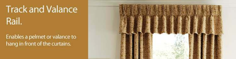 Curtain track and valance rail