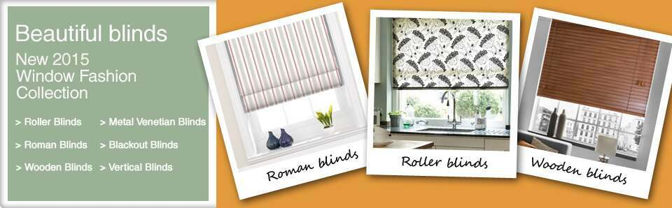 Blinds Made to Measure including Roller, Roman and Vertical