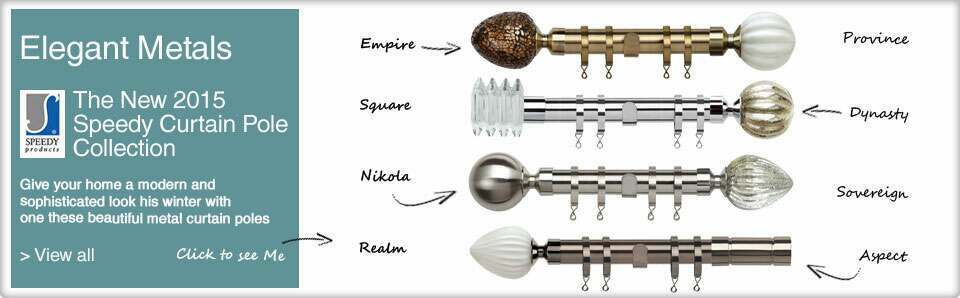 Curtain Poles online including Speed Metal Poles