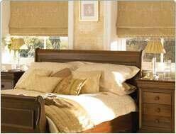 roman blind in bedroom