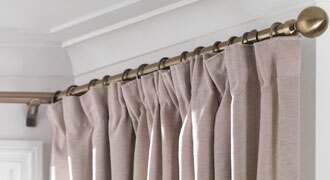 How To Put Up Bay Window Curtain Pole Gopellingnet