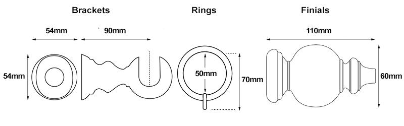 Cameron Fuller Oriental 35mm Measurements