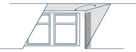 Regency Brass Dormer Rod Window - swing to move away from window