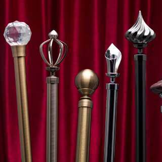 curtain poles for bay windows