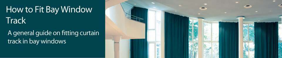 Guides banner for fitting bay window curtain tracks