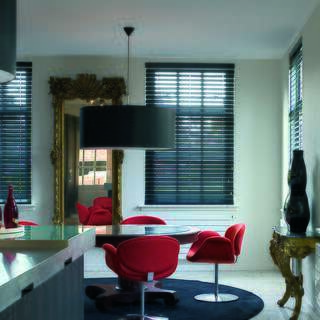 wooden blinds for bay windows
