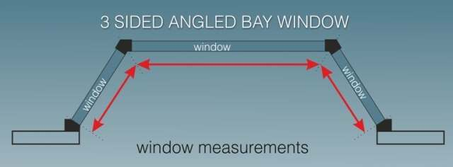 how to measure blinds for angled bays