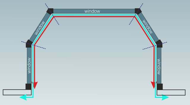 Curtain Rods 5 sided bay window curtain rods : Measuring for Bay Window Poles and Tracks
