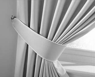 piped curtain tie backs
