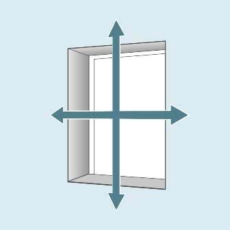 How to measure for an Exact blind - fitted outside the window