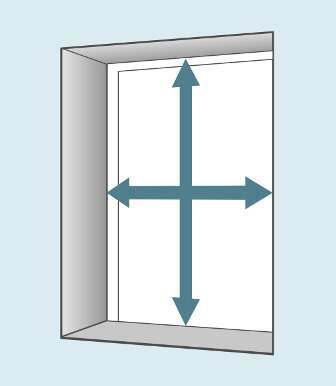How to measure for a Recessed blind - fitted inside the window