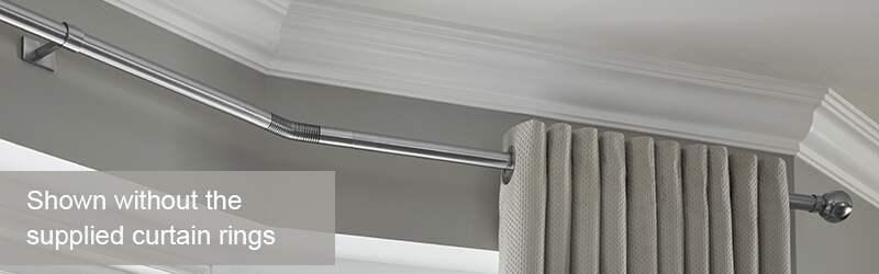 Bay Window Curtain Poles Rolls Neo Poles Amp Blinds Com