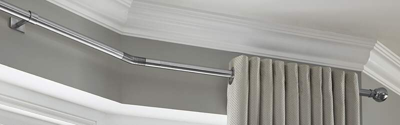 Bay Window Curtain Poles Perfect For Eyelet Curtains