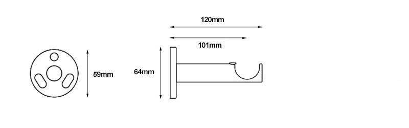 Rolls Neo Cylinder 28mm Bracket Measurements