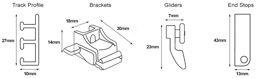 Rolls Superglide Track Dimensions