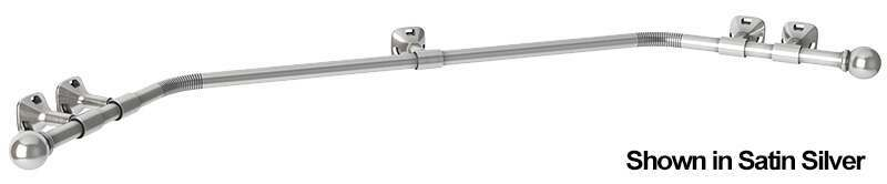 Metal Bay Window Curtain Pole for Eyelet Curtains